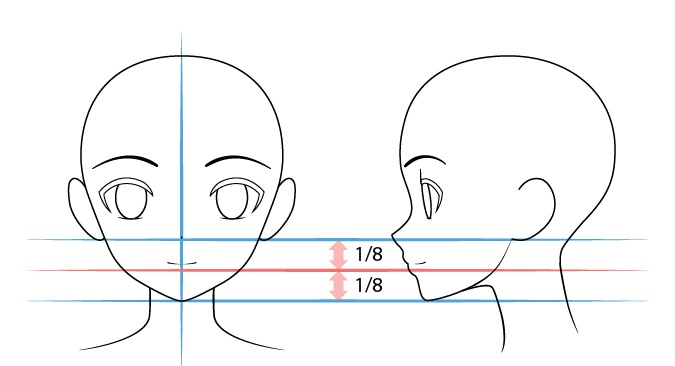 menggambar anime mulut