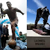 Messi's statue vandalised in Buenos Aire