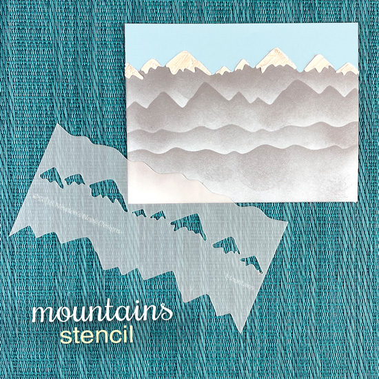 Mountains Decorative Edge Stencil by Newton's Nook Designs #newtonsnook