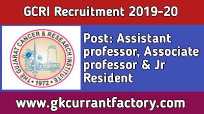 GCRI Assistant professor Associate professor and other Recruitment, GCRI Recruitment