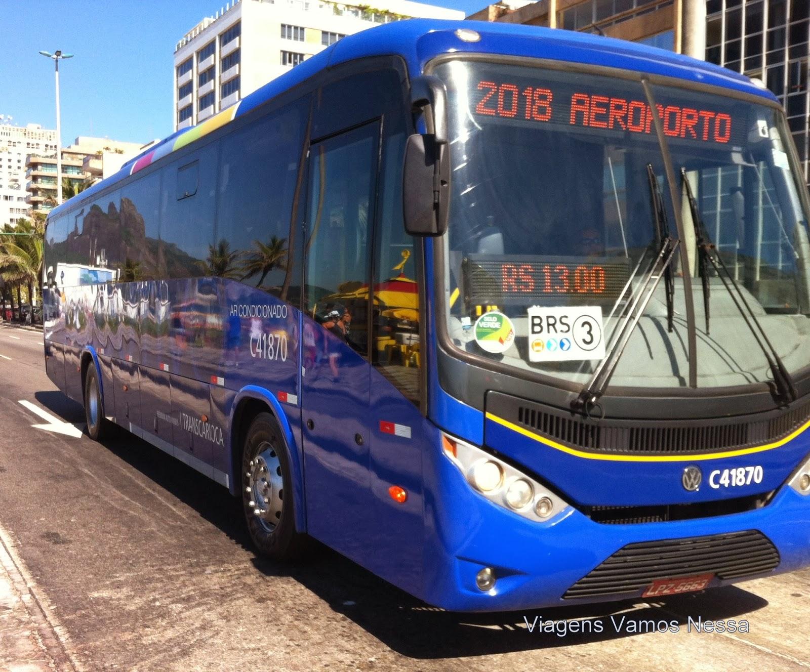 Ônibus executivo que faz a linha aeroporto Barra da Tijuca