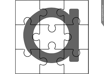 Printable ABC puzzle, lowercase alphabetic lineament a