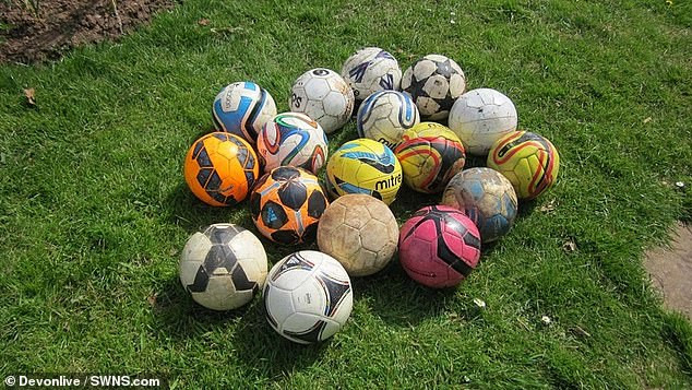 Landlady, 56, fined and faces prosecution after donating footballs kicked into her garden to charity