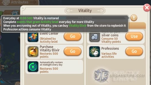 Lumia Saga - Vitality Points