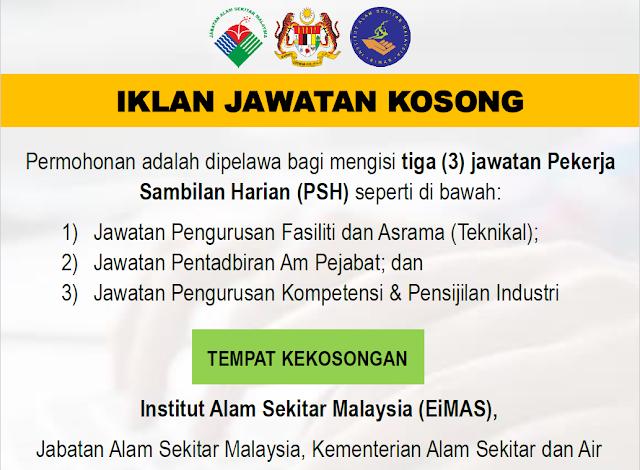 Jawatan Kosong Di Jabatan Alam Sekitar Jas Appkerja Malaysia