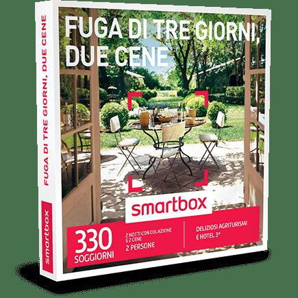 SMARTBOX Cofanetto Regalo Fuga di tre giorni, due cene €169.90
