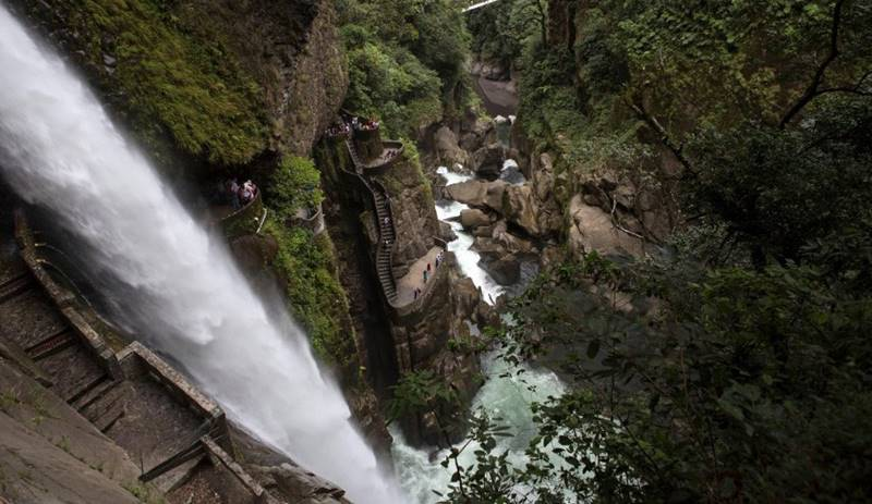 Stairs of Pylon del Diablo Waterfall, Ecuador