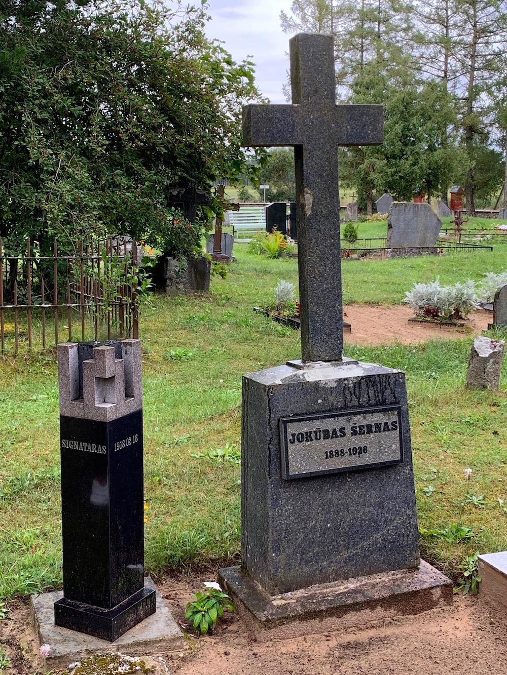 Signataro Jokūbo Šerno kapas