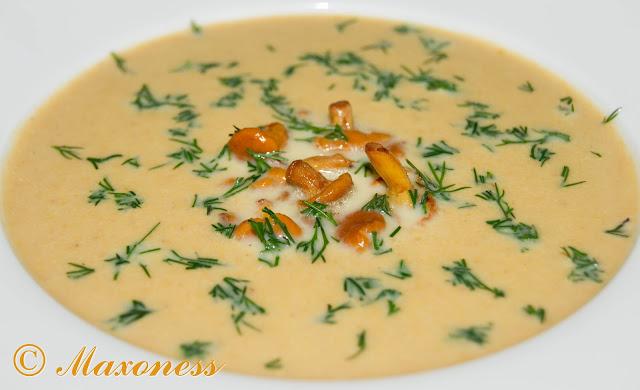 Суп-пюре с лисичками