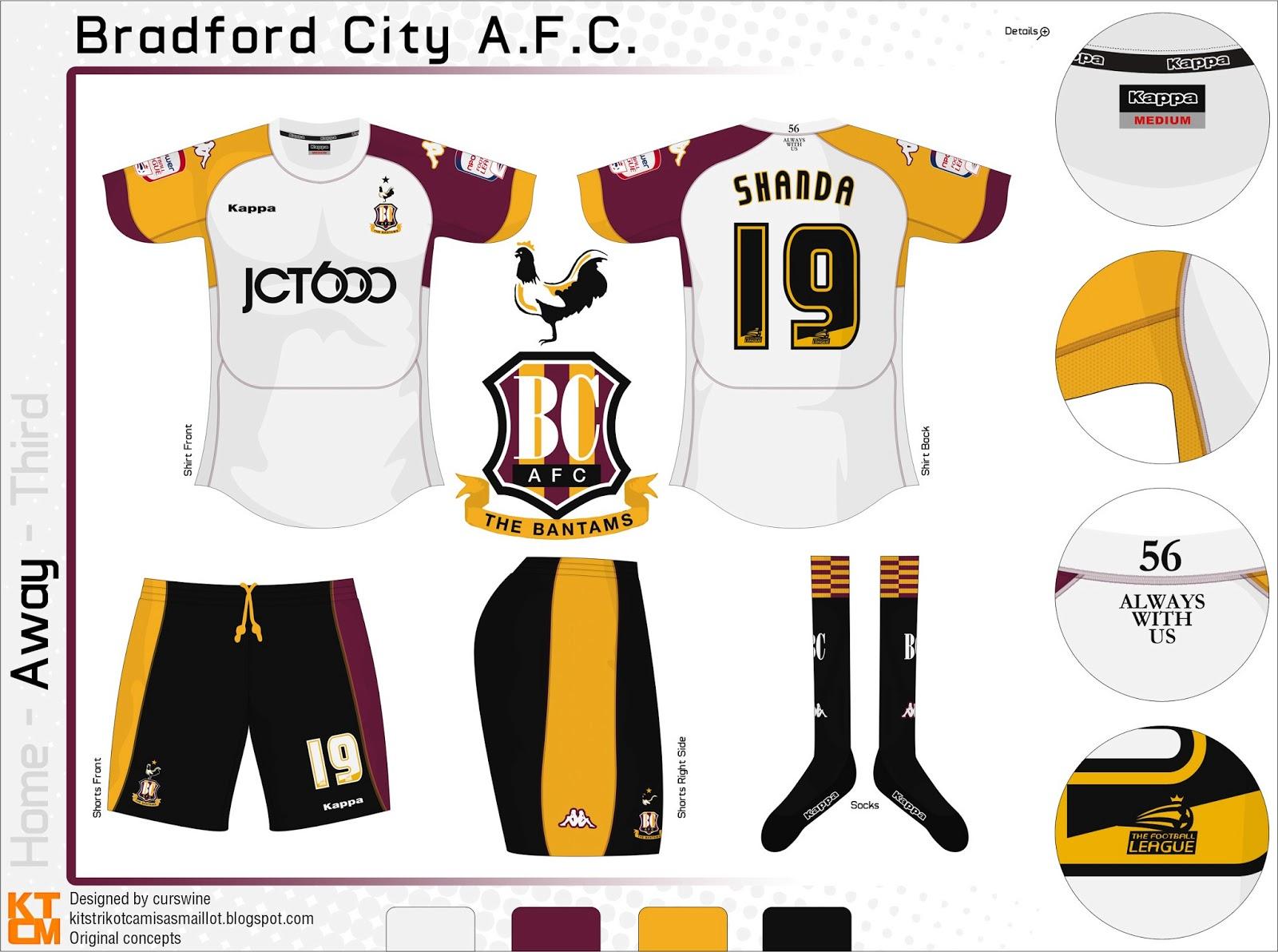 Kits Trikot Camisas Maillot: Bradford City A.F.C.