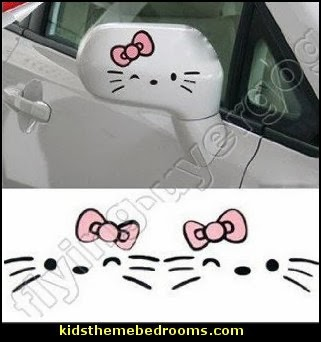 HELLO KITTY Graphics Auto Car Truck Side View Mirror Stickers Decals