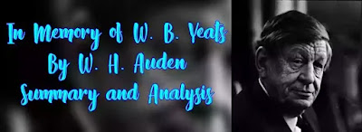 Auden's Poem In Memory of W.B. Yeats as its title indicates is an elegy written to mourn the death of W.B. Yeats, but it is different from the conventional elegy. Traditionally in an elegy all nature is represented as mourning the death, here nature is represented as going on its course indifferent and unaffected.