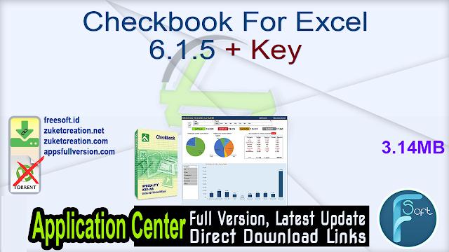 Checkbook For Excel 6.1.5 + Key