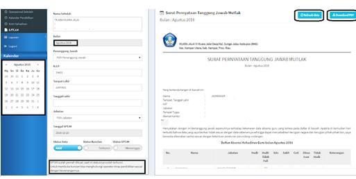 Geveducation:  Cara Kunci Absensi DHGTK dan Cetak SPTJM di DHGTK V.2