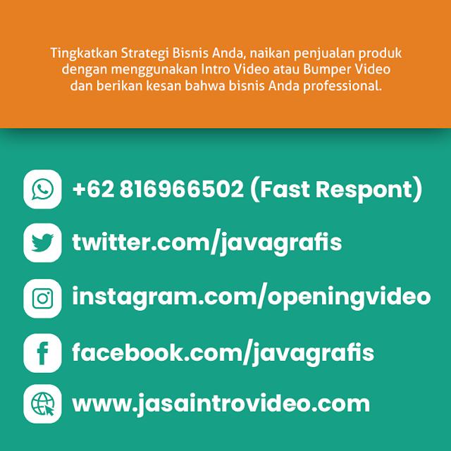 Jasa Produksi Video Intro dan Opening