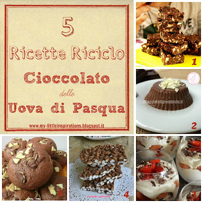 Come riciclare il cioccolato delle Uova di Pasqua - My Little Inspirations