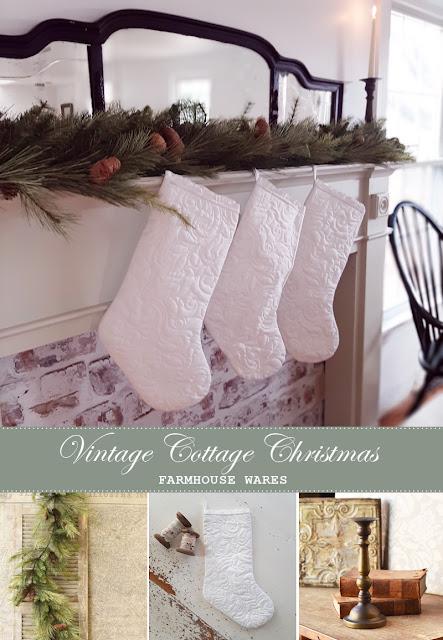 Vintage Cottage Christmas Decor