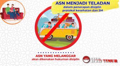 Pemerintah Pusat melalui @kempanrb melarang mudik Idul Fitri 1442 H Bagi Aparatur Sipil Negara (ASN) beserta keluarganya