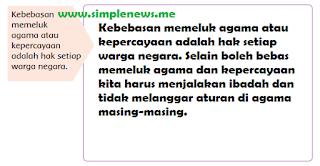Kebebasan memeluk agama atau kepercayaan adalah hak setiap warga negara www.simplenews.me