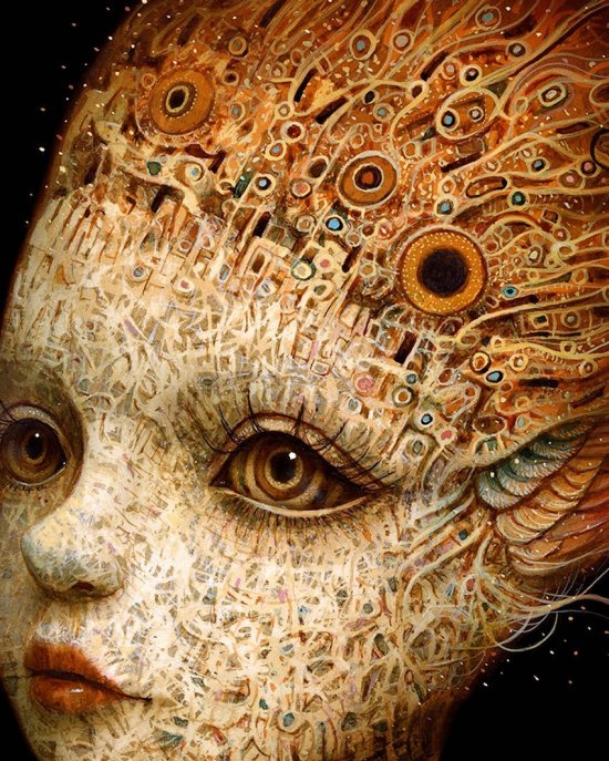 Naoto Hattori arte pinturas surreais bizarras mulheres