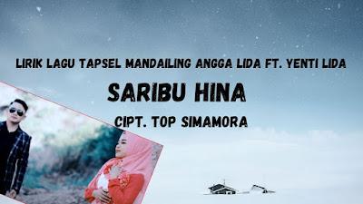 lirik lagu Saribu Hina Angga Lida Ft Yenti Lida