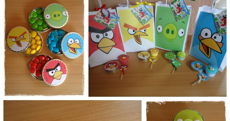 Toppers Personagens Angry Birds: Cris Brussolo: Angry Birds