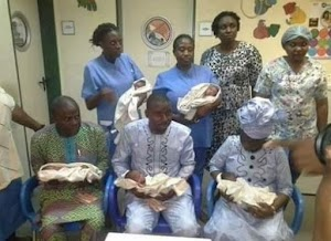 Check In To View Photos From Naming Ceremony Of Quintuplets In Abuja... Aisha Buhari presents  gifts to parents