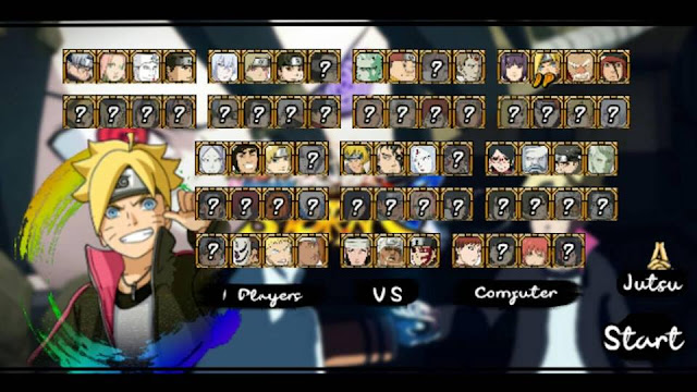 Download Naruto Senki Boruto The Last Version MOD Full Character Apk Terbaru