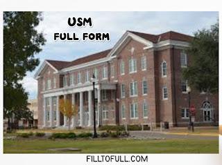 Full form of USM - USM library | filltofull.com