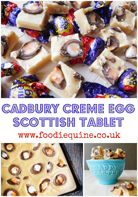 Traditional Scottish Tablet Recipe combined with Creme Eggs for a seriously sweet Easter treat. Scottish Creme Egg Bake