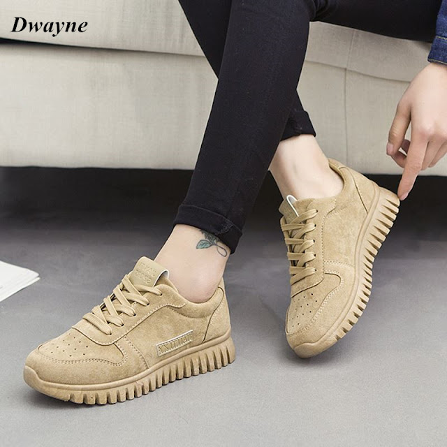 Model Sepatu Wanita Suede Kulit kekinian