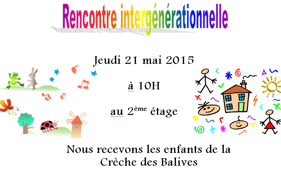 Rencontre intergenerationnelle ehpad