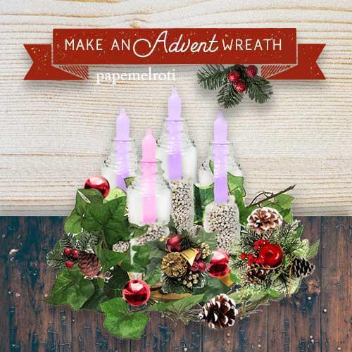 Diy Advent Wreath Papemelroti Gifts Inspiration Art