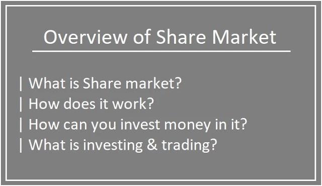 Overview of share market | Basic of share market | stock market