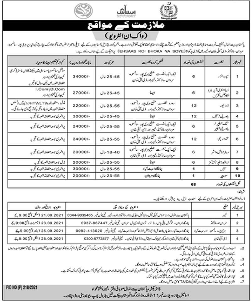 Pakistan Bait ul Mal PBM Jobs 2021 in Pakistan - Ehsaas Program Jobs 2021 in Pakistan