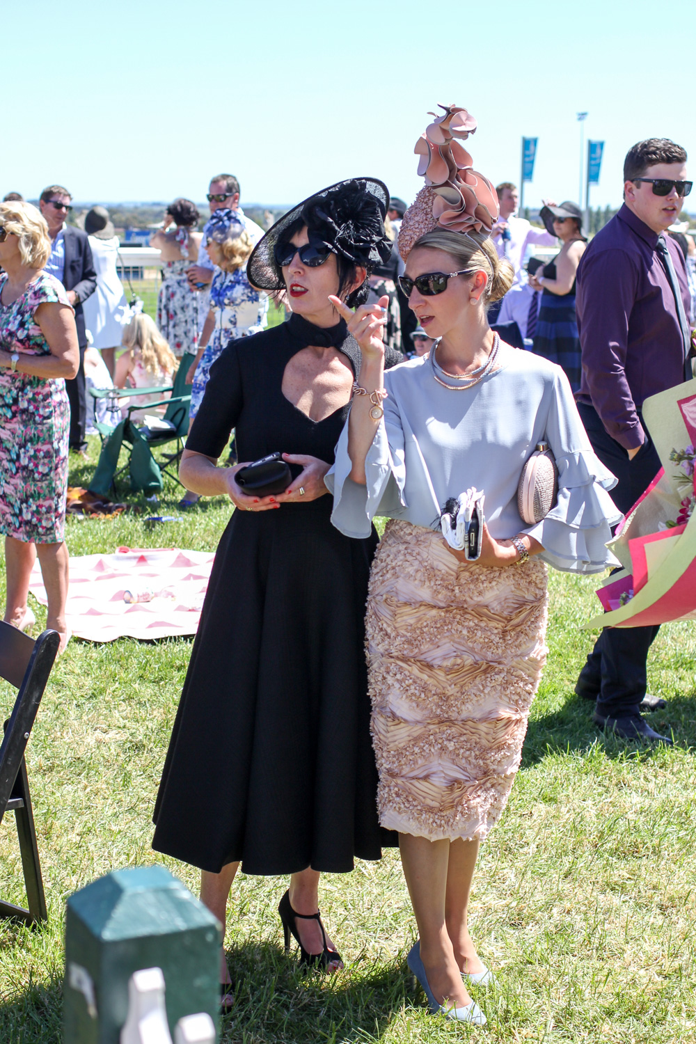 Clare Schreenan from Clasch Design with Millinery Winner Lisa
