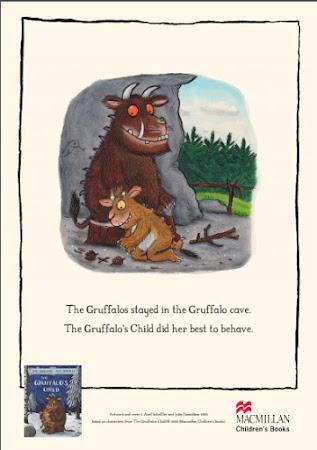 Gruffalo and The Gruffalos child staying home by Julia Donaldson
