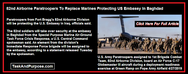 Baghdad Embassy Marines Relieved By 82nd Airborne