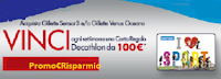 Logo Con Gillette Venus Oceana o Sensor 3 vinci 26 Gift Card Decathlon da 100€