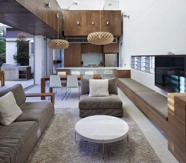 Dise os de salas y comedor juntos colores en casa for Sala y comedor completos