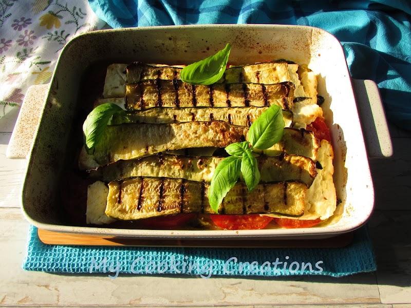 Пармиджана с тиквички и козе сирене * Parmigiana di zucchine con formaggio di capra