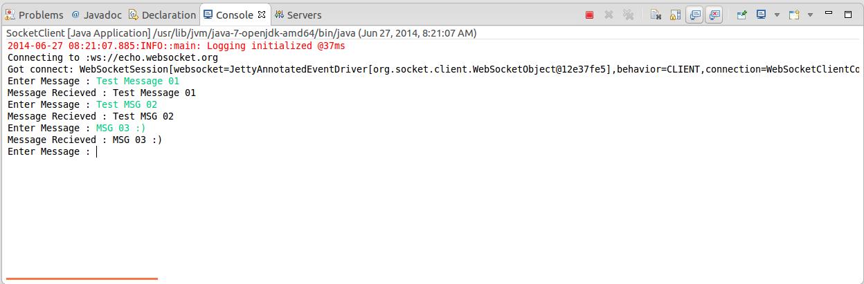 Websocket Client In Java ~ Yasassri's Blog
