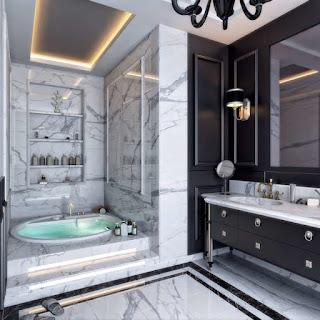 زخرفة الحمام بالجبس جديد و رائع
