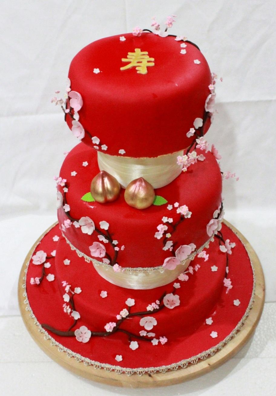 Cherry Jam Birthday Cake