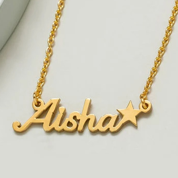 Little Star Name Necklace