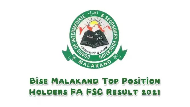 BISE Malakand Top Position Holders FA FSC Result 2021