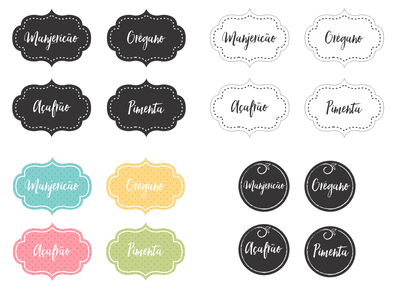 Diy Etiquetas Para Imprimir E Organizar Temperos 2 Enjoy