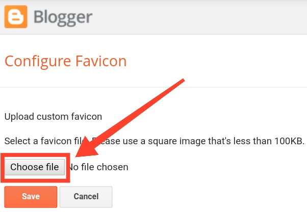 How to add or remove or change blogger favicon or logo 4