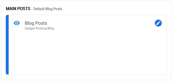 Main Posts