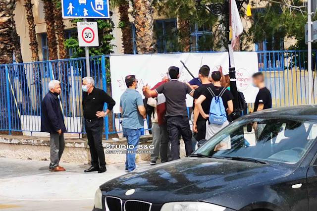 Τι αναφέρει ο ΣΥΡΙΖΑ Αργολίδας για το περιστατικό με το πανό στο Ναύπλιο